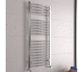 DBS Chrome Curved Heated Towel Rail 1200mm x 500mm