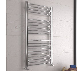 DBS Chrome Curved Heated Towel Rail 1200mm x 600mm