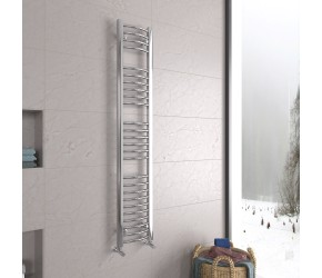 DBS Chrome Curved Heated Towel Rail 1600mm x 300mm