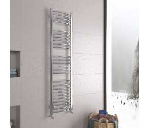 DBS Chrome Curved Heated Towel Rail 1600mm x 400mm