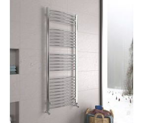 DBS Chrome Curved Heated Towel Rail 1600mm x 600mm