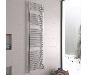 DBS Chrome Curved Heated Towel Rail 1800mm x 500mm