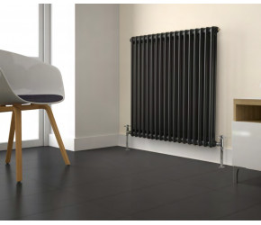 Kartell Anthracite 3 Column Horizontal Radiator 600mm x 650mm