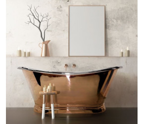 BC Designs Copper Nickel Freestanding Boat Bath 1500mm x 700mm