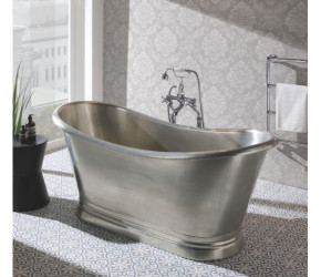 BC Designs Tin Freestanding Boat Bath 1700mm x 725mm