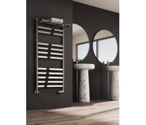 Reina Alento Polished Stainless Steel Towel Rail 1450mm x 530mm