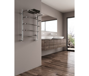 Reina Elvo Polished Stainless Steel Towel Rail 660mm x 530mm