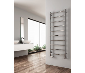 Reina Savio Polished Stainless Steel Towel Rail 800mm x 500mm