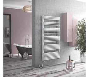 Eucotherm Magnus White Designer Towel Radiator 870mm High x 532mm Wide