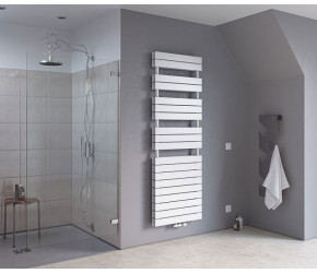 Eucotherm Mars Primus Duo White Flat Panel Towel Radiator 1420mm High x 600mm Wide