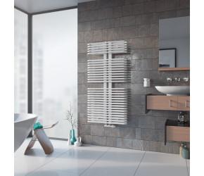 Eucotherm Helios White Designer Towel Radiator 1176mm High x 600mm Wide