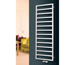 Eucotherm Sidus White Designer Towel Radiator 1230mm High x 600mm Wide
