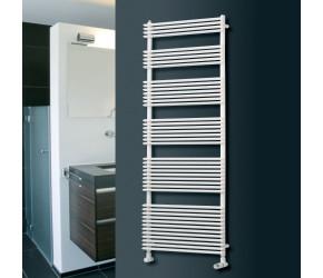 Eucotherm Kalida White Designer Towel Radiator 1160mm High x 600mm Wide