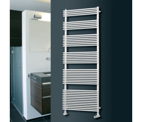 Eucotherm Kalida White Designer Towel Radiator 1460mm High x 600mm Wide