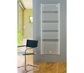 Eucotherm Fontanus White Designer Towel Radiator 1209mm High x 600mm Wide