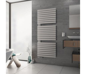 Eucotherm Nova Trium White Designer Towel Radiator 1164mm High x 600mm Wide