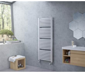Eucotherm Fino White Ladder Towel Radiator 1395mm High x 580mm Wide