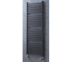 Eucotherm Fino Anthracite Ladder Towel Radiator 1215mm High x 580mm Wide
