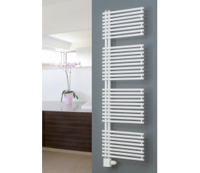 Eucotherm Ceres Plus White Designer Towel Radiator 1567mm High x 600mm Wide
