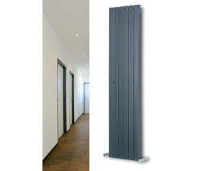 Eucotherm Mars Deluxe White Vertical Flat Panel Radiator 1800mm x 595mm