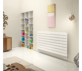 Eucotherm Mars Deluxe White Horizontal Flat Panel Radiator 595mm x 1500mm