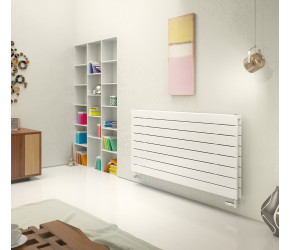 Eucotherm Mars Deluxe White Double Panel Horizontal Flat Panel Radiator 595mm x 1200mm