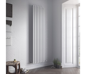 Eucotherm Nova Double Panel White Vertical Radiator 1800mm x 410mm