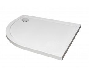 Kartell Stone Resin Offset Quadrant 1200mm x 800mm Left Hand Shower Tray