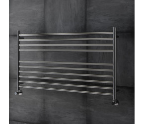 DBS Straight Polished Stainless Steel Towel Rail 600mm High x 1000mm Wide