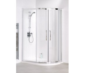 Lakes Classic Semi-Frameless Easy Fit Offset Quadrant 1200mm x 900mm