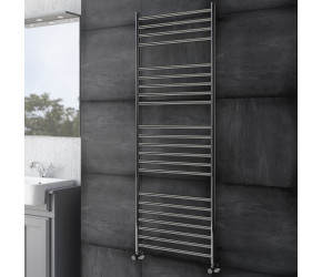 DBS Straight Polished Stainless Steel Towel Rail 1400mm High x 500mm Wide