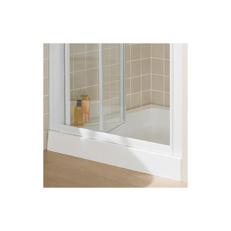 lakes classic semi frameless bi fold shower door 700mm
