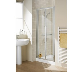 Lakes Classic Semi-Frameless Bi-Fold Shower Door 900mm Wide x 1850mm High