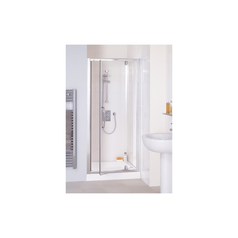 Lakes Classic Semi Frameless Pivot Shower Door 800mm Wide