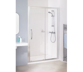 Lakes Classic Semi-Frameless Sliding Shower Door 1400mm Wide x 1850mm High