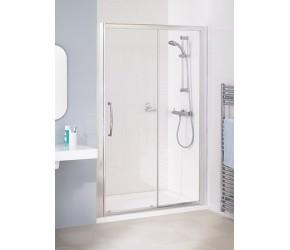 Lakes Classic Semi-Frameless Sliding Shower Door 1400mm Wide x 1850mm High