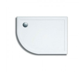 Lakes Stone Resin Low Profile Offset Left Hand Quadrant Shower Tray 1000mm x 800mm