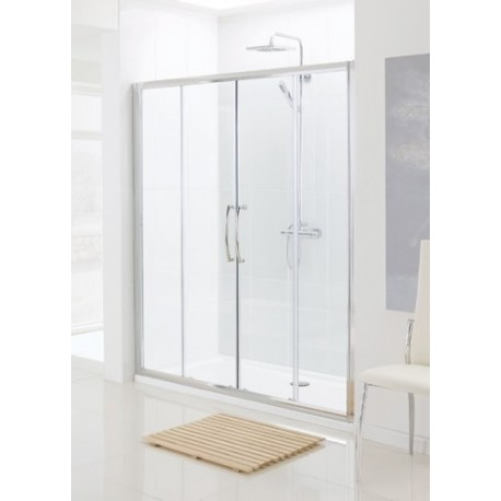 Lakes classic semi frameless double sliding shower door for 1800mm high shower door