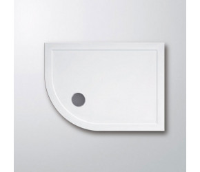 Lakes Lightweight Low Profile Offset Left Hand Quadrant Shower Tray 900mm x 760mm