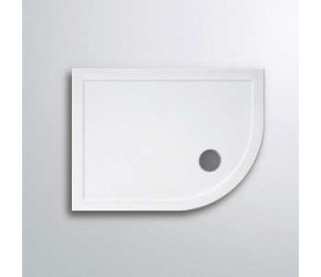 Lakes Lightweight Low Profile Offset Right Hand Quadrant Shower Tray 900mm x 800mm