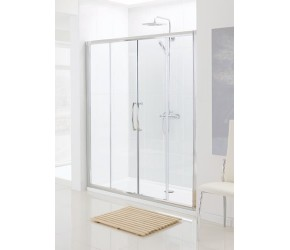 Lakes Classic Semi-Frameless Double Sliding Shower Door 1400mm Wide x 1850mm High