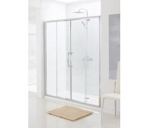 Lakes Classic Semi-Frameless Double Sliding Shower Door 1400mm Wide x 1850mm High