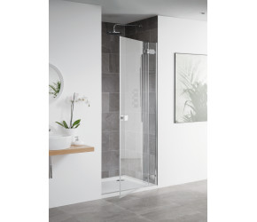 Lakes Island Barbados 1000mm x 2000mm Frameless Hinge Shower Door & Panel