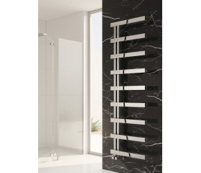Reina Piazza Polished Stainless Steel Designer Towel Rail 1270mm x 500mm