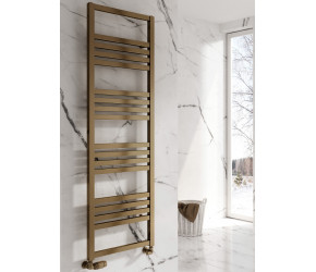 Reina Bolca Bronze Satin Aluminium Designer Heated Towel Rail 870mm x 485mm