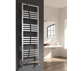 Reina Bolca Brushed Aluminium Designer Heated Towel Rail 1200mm x 485mm