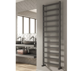 Reina Fano White Aluminium Designer Towel Rail 1240mm x 485mm