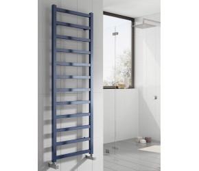 Reina Fano Blue Satin Aluminium Designer Towel Rail 1500mm x 485mm