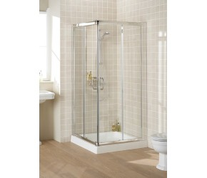 Lakes Classic Semi-Frameless Corner Entry Shower Enclosure 1000mm x 1850mm