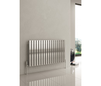Reina Flox Polished Stainless Steel Single Panel Flat Radiator 600mm x 1003mm